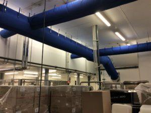 souffalge air par gaine textile