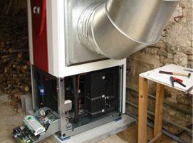 pose d'un système echange air-eau