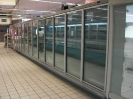 armoire réfrigérée froid négatif pour GMS carrfeour marlet St Girons Ariège